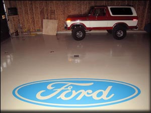 Industrial epoxy used on this garage floor.