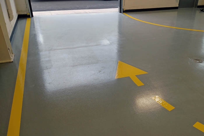 Lines & Logos On Floors